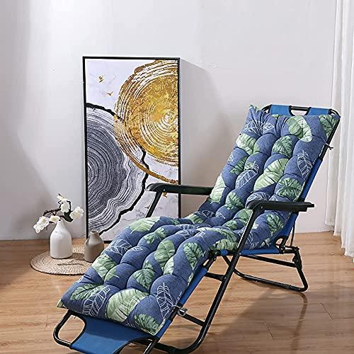 XCTLZG Elegante alfombra de impresión hermosa, almohadilla de asiento cómoda de 8 cm de grosor, almohadillas para silla reclinable para patio, jardín, interior, exterior, vacaciones, relajación, silla