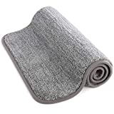 "Lifewit Indoor Doormat Super Absorbent Water Low-Profile Mats 24"" x 35"" Machine Washable Non Slip Rubber Entrance Rug for Front Door Inside Dirt Trapper Mats Shoes Scraper, Grey"