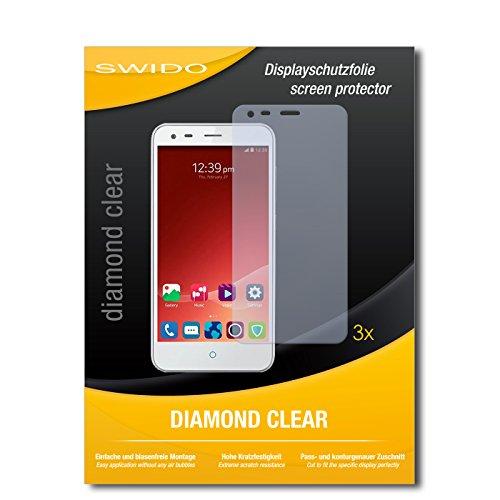 3 x SWIDO® Schutzfolie ZTE Blade S6+ Bildschirmschutz Folie