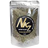 NicoNone -Inspirit Blast- Lavender, Mullein, Uva Ursi, Skullcap, Marshmallow, Damiana, Lobelia Leaf Smoking Blend Mix 1 Oz Bag Used with Tea, Herbal Cigarette Tobacco Free - Nicotine Free