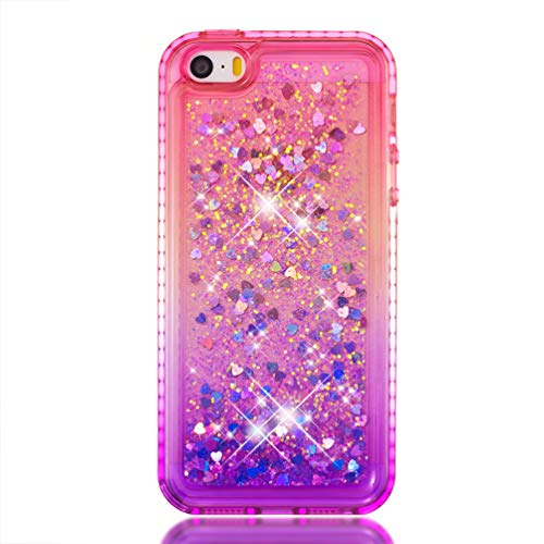 AuchSo - Carcasa para iPhone 5 y iPhone SE, Suave TPU, Color Transparente y Brillante con Diamantes a Prueba de Golpes, Compatible con Apple iPhone 5 (Fabricado en TPU)