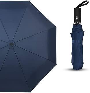 YQRYP Umbrella Custom Folding Dual-use Automatic Umbrella Folding Student Umbrella Pure Black Business Advertising Umbrella Windproof Umbrella, Golf Umbrella (Color : Blue)