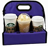 TheBiker, Cup Carrier Reusable Waterproof Folding Insulated, 6 Cups (Purple, 1)