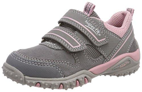 Superfit Mädchen SPORT4 Sneaker, Grau (Smoke Multi), 30 EU