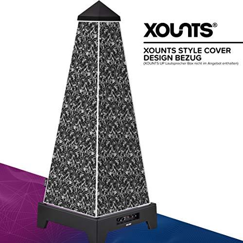 XOUNTS Style Cover 'Paisley' – Premium Flies-Cover für XOUNTS UP Musikanlage – Design-Cover in schwarz-weißem Paisley-Stil – Als Zubehör für XOUNTS UP Lautsprecher