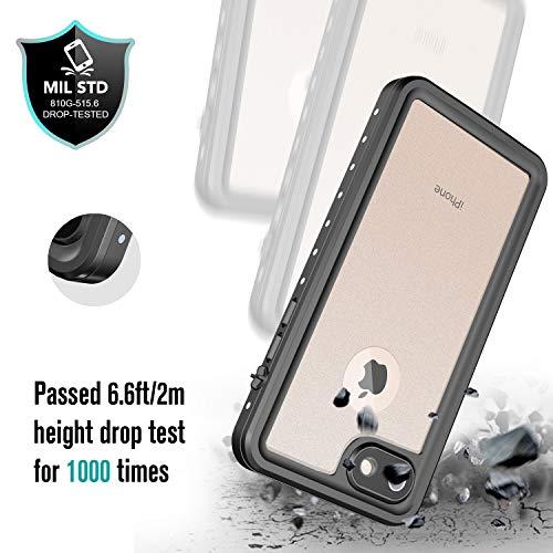certificaci/ón IP68 EONFINE Funda Impermeable para iPhone 7 iPhone 7 de Goma sellada con ID t/áctil con Sonido Claro para iPhone 7 4.7 Negro a Prueba de Polvo de Nieve y Suciedad