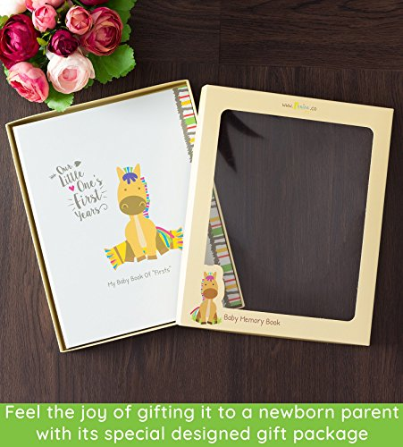 Ronica Farm Baby Memory Book - 62 Page Keepsake Photo Album - Modern baby shower gift & keepsake for new parents to record photos & milestones- Ideal baby gifts for newborn