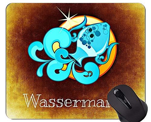 Rutschfeste Gummi-Gaming-Mausunterlage, Wassermann-Tierkreis-Konstellations-Astrologie-Themen der Gummi-Mausunterlage