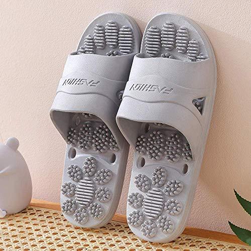 Ducha antideslizante Casa sandalias, zapatillas de masaje, baño antideslizantes par de sandalias...