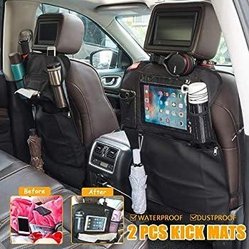 2-Pack MATCC Car Seat Back Organizer Kick Mats