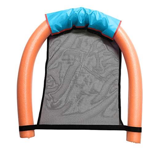 Qianber - Silla flotante inflable para piscina, asiento de bebé para adultos naranja