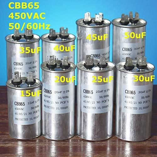 FSM-condensadores, 1pc 450V 15-50uF condensador del motor ...