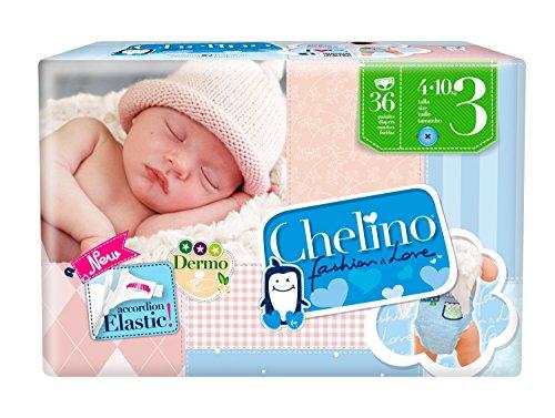 Chelino Fashion & Love, Talla 3, Pack de 6 (6 x 36 pañales)