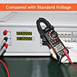Pinza Amperimétrica AC / DC 0-600A, TANKOOL CM06 Pinza Multímetro Profesional, T-RMS, 6000 Cuentas