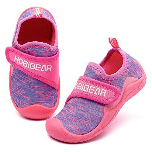 GUBARUN Hausschuhe Mesh Running Sneakers Jungen Mädchen Baby(Rose Red Purple 1, 29 EU)