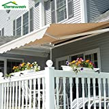 Diensweek Patio Awning Retractable 10'x8' Fully Assembled Manual Commercial...