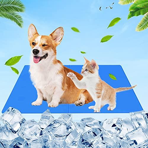 RANJIMA Alfombra Refrescante para Perro, Alfombrilla de Refrigeración Automática, Manta Refrigerante para Perros, 65 x 50cm Alfombrilla Refrescante para Perros Gatos
