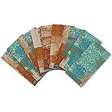 ENCOFT 27pcs Adhesivo para Azulejos Rectangular en PVC Efecto 3D Pegatinas de Baldosas Azulejos Autoadhesivo Impermeable para Cocina Baño Vintage Multicolor 20x10cm
