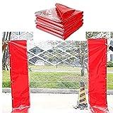 LJIANW Abdeckplane Draussen Regenfestes Tuch Transparent Vorhang Verdicken Weich Gras 0, 5 Mm Pavillontuch Zum Deck Balkon Zelt, Roter Rand Anpassbar (Farbe : Clear+Red, Größe : 2X3m)