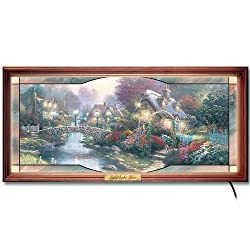 Thomas Kinkade Stained Glass Panorama with Lights and Sound