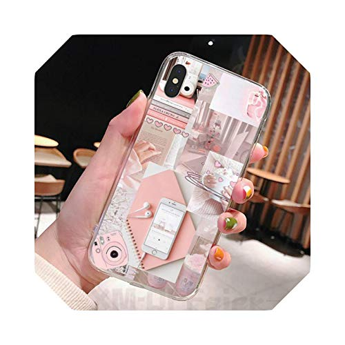 Aesthetic Relaxing Afternoon Tea - Carcasa transparente para iPhone 11 12 Pro Max XR X 7 8 PLUS-a11-for 12mini (5.4)