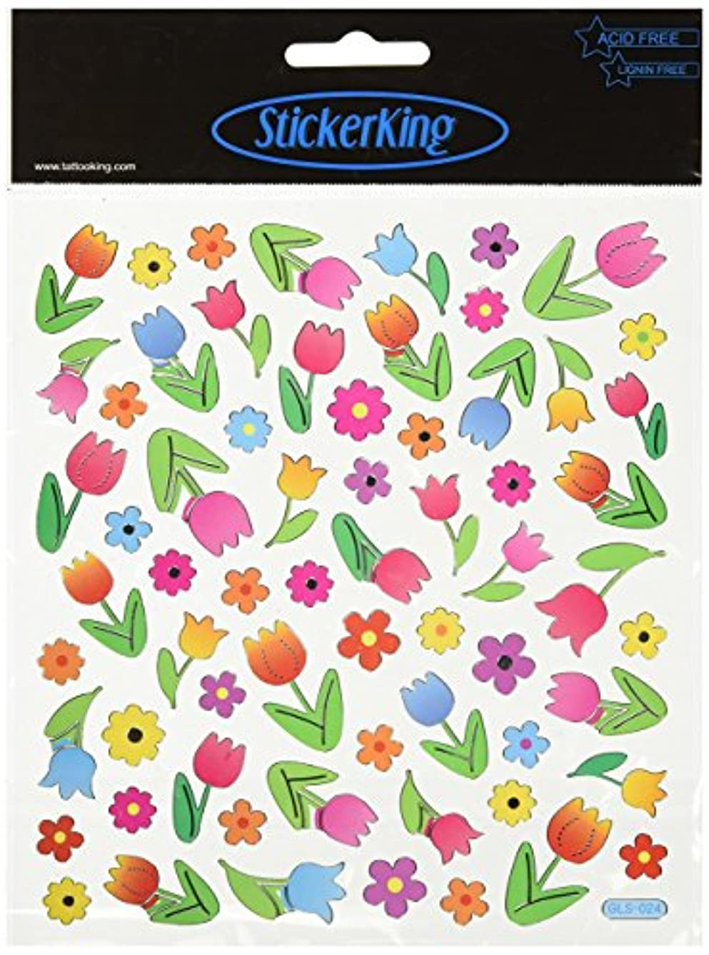 Tattoo King Multicolored Stickers-Tulips
