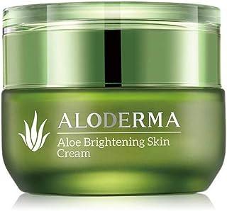 ALODERMA Aloe Brightening Skin Cream with 80% Pure Aloe Refines Skin Texture, Evens Skin Tone, Diminishes Appearance of Fi...
