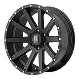xd wheels 16 - XD Series by KMC Wheels XD818 Heist Satin Black Wheel With Milled Flange (16x8