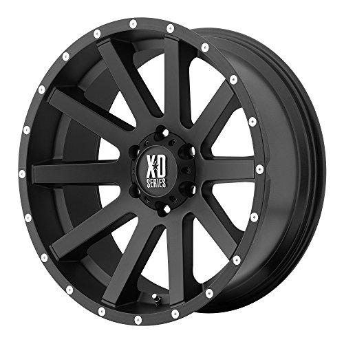 XD Series by KMC Wheels XD818 Heist Satin Black Wheel With Milled Flange (17x9