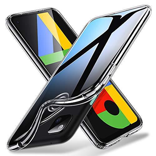 ESR Klare Silikon Hülle kompatibel mit Google Pixel 4a, [Luftpolster] [Bildschirm- und Kameraschutz] [Ultra-dünn] Essential Zero Weiche Flexible TPU Hülle - Klar