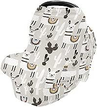 Stretchy Baby Car Seat Covers for Boys Girls Llama Cactus Infant Car Canopy Nursing Cover Breastfeeding Scarf