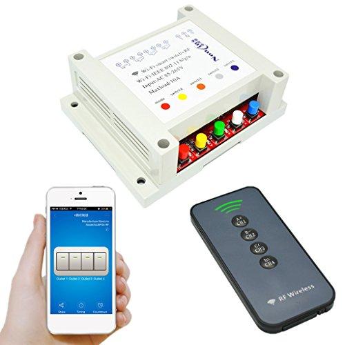 harayaa Módulo de Inalámbrico AC85-265V 4 Canales App Control Remoto Teléfono # 4