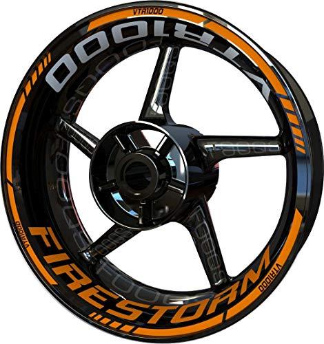Motocicleta Moto Llanta Inner Rim Tape Decal Pegatinas F2 para Honda VTR 1000 VTR-1000 (Naranja)