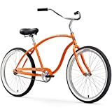 Firmstrong Chief Man Single Speed Beach Cruiser Bicycle, Orange, 21.5 inch / Large