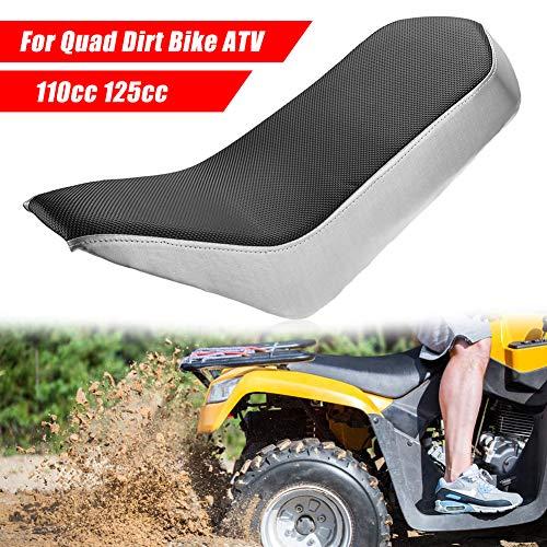 Dogggy Schwarz PVC-Vinyl-Schaum Sitz für 110cc 125cc Rennen Stil Quad Dirt Bike ATV 4-Rad dauerhaft Vinylschaumsitz