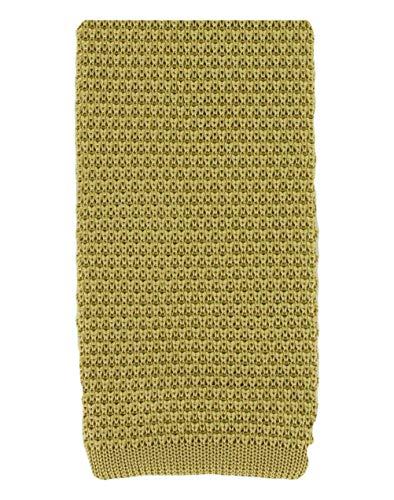 Michelsons of London Cravate en soie jaune tricoté de