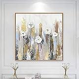 JHGJHK Abstracto ápice Flor Arte Lienzo Pintura al óleo Arte de la Pared sin...