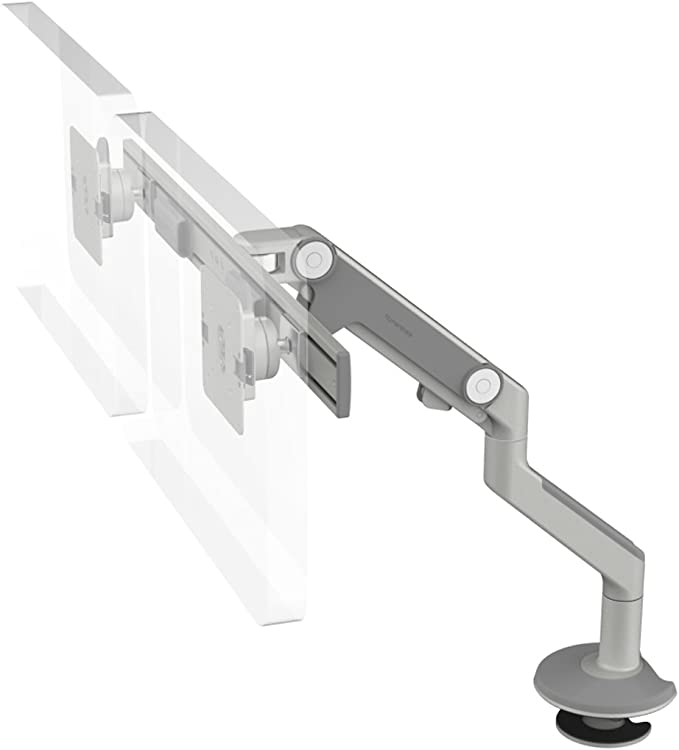 Black with Black Trim New Humanscale M2 Monitor Arm Bolt-Through Mount