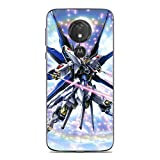 RLKONAN Transparent Crystal Clear Coque Soft Gel TPU Anti-Yellowing Cover Case For Moto G7 Play-Mobile Suit-Gundam 10
