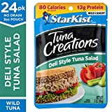 StarKist Tuna Creations Deli Style Tuna Salad – 3 oz. Pouch, Pack of 24 – Ready to Eat Tuna Salad with 13g of Protein and 80 Calories Per Pouch, Gluten and Soy Free (Packaging May Vary)