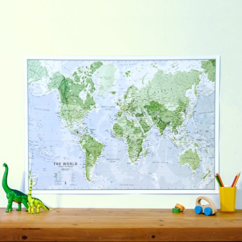 Glow in The Dark Map of The World - Map is Illuminated at Night - Children's Educational Poster