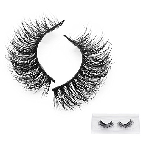 3D Faux Cils, Skitic False Eyelashes Mink Hair Pure Hand-made Natural Thick Fake Eye Lashes Maquillage Extension (1 Pair)