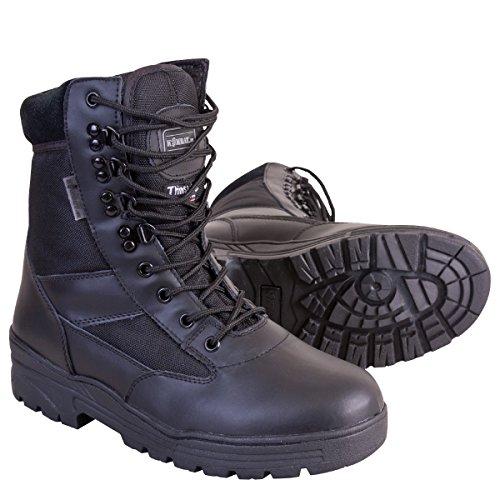 Kombat UK Half Leather/Half Cordura - Botas militares Hombre