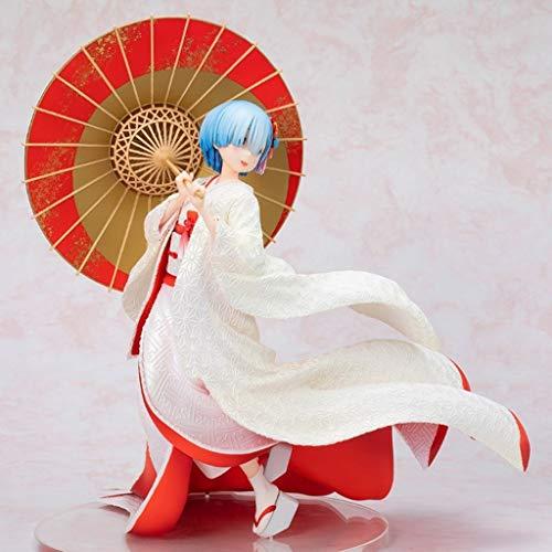 CJH Re: La Vida en un Mundo Diferente de Cero Figura de acción Regalo Rem Kimono Blanco Animado Hecho a Mano Modelo Popular de Dibujos Animados Toy Collection Desde Re: Ordenadores Cero