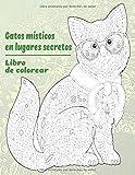 Gatos místicos en lugares secretos - Libro de colorear