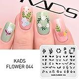 KADS Plantilla para Uñas Flor Placa Estampado Manicure Decoración Arte de Uñas