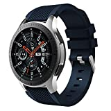 SUPORE Galaxy Watch 46 mm, Cinturino di Ricambio in Morbido Silicone per smartwatch Samsung Gear Sport/Galaxy Watch 22 mm