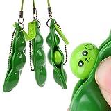 iMagitek 3 Pcs Fidget Toy Set, Squeeze-a-Bean Soybean Stress Relieving Playful Charms Extrusion