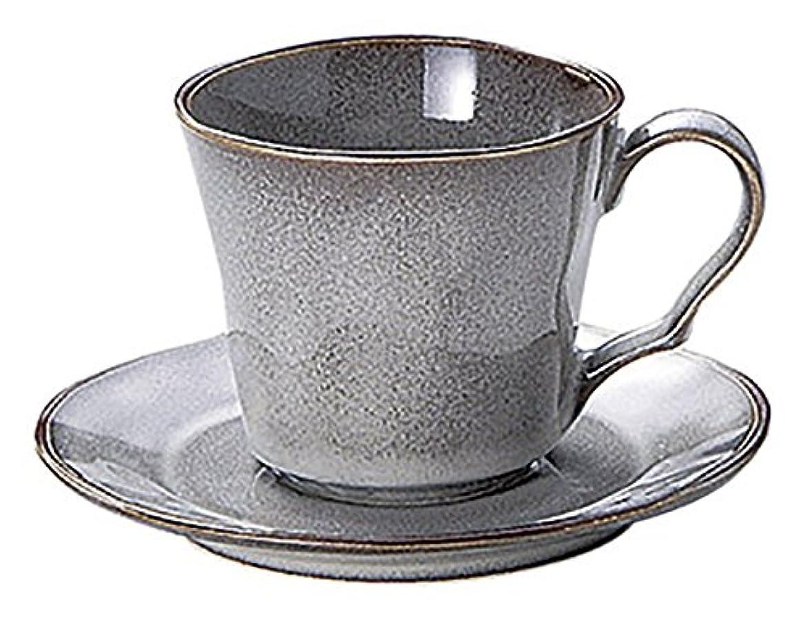 エントリトレース感謝光洋陶器 ラフェルム コーヒーカップ&ソーサー ストームグレー 13573052&13573055