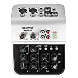 Neewer Mixing Console Compact Audio Sound 4-Channel Mixer for Condenser...